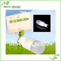 free shipping 10pcs G9 SMD 2835 12 LED 220V LED Spot Light G9 Bulb Lamp day white/ Warm White G9 LED Bulb Lamp Energy Saving