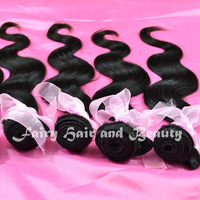 Free Shipping Natural Color Virgin Peruvian Hair Body Wave Mix Length 3 pcs lot  Weavon