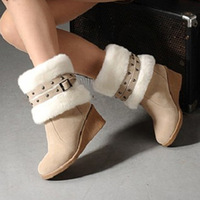 2013 women's snow boots faux fox fur women's shoes free shipping woman shoes woman pumps