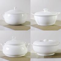 Fine bone china royal white pot soup cooker soup pot product pot