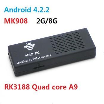 MK908 Quad Core Mini PC Smart Android 4.2.2 TV Box IPTV Google TV Stick II 1.6-1.8GHz Max Cortex-A9 2G RAM 8G ROM HDMI