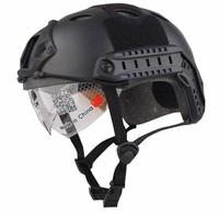 Ride helmet fast pj belt windproof lens bumper tactical helmet