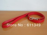 Free Shipping NEW Pet Products Puppy Small Dog PU Leather Leashes For Small Medium Dogs Smooth Lead Pulling Rope Red