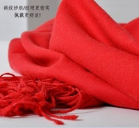 high quality red black European style high count pure wool twill scarf shawl thin section for women