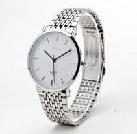 Ultra-thin rhinestone male watch fashionable casual lovers table mens watch steel strip mens watch