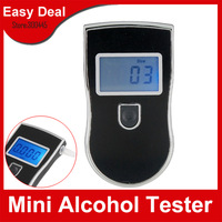 Prefessional Police LED Digital Breath Alcohol Tester Breathalyzer With Retail Package Free Shipping