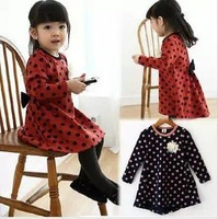 2013 Autumn new princess han edition children long-sleeved dress baby girls bow dress