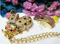 wholesale  Jewelry Bettle of Love Gift USB Flash Memory Drive Creative U disk.usb flash drive.100%real capacity