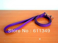 Free Shipping NEW Pet Products Dog PU Leather Leashes For Small Medium Dogs Cats Polka Dot Lead Pulling Rope Purple