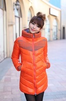2013 down cotton cotton-padded jacket hot-selling slim medium-long women's plus size wadded jacket cotton-padded jacket female