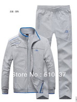 2013 NEWEST men Brand cotton sports suit couples sportswear suit  men and women knitted sportwear free shipping