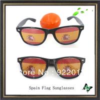 Spain flag sunglasses sticker sunglasses Recreation Glasses Fun Party Pin Hole Wayfarer Sunglasses Cartoon Eye Design