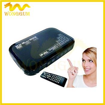 1080P full hdd multimedia player support Blueray hdmi, vga, mkv hdd media player 30pcs Free dhl ems shipping