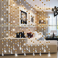 2013 fashion Customizable 100% K9 crystal bead curtain partition entranceway soft home decoration