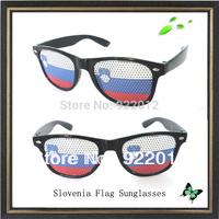 Slovenia flag sunglasses sticker sunglasses Recreation Glasses Fun Party Pin Hole Wayfarer Sunglasses Cartoon Eye Design