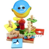kid wood wooden toys building block sets educational blocks digital shape pirate wisdom box WZ30457