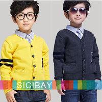Free Shipping Retail Kids Cardigans Baby Boy Cardigan Sweaters,V-Neck Autumn Jackets  K3010