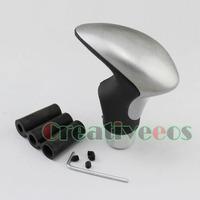 Metal Black Leather STITCH Manual Car Gear Shift Knob Universal MT Shifter New