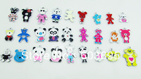 S56523! Free Shipping 100Pcs/Lots Enamel mixed panda charms for key (if you buy 500pcs or more Free shipping for dhl or fedex )