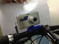10pc Bicycle Camera Mount- Blue ,Max load: 500g + Free Shipping