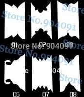 NEW ARRIVAL 50SHEET/lot White French Nail Sticker 3D Nail Sticker nail art DIY nail Accessories +individually packaging