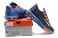 Freeshipping 8 colors cheap name brand 2013 mens kd 6 basketball shoes,kevin durant vi elite sports sneakers for sale black navy