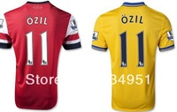 free shipping 2013/14 england Arsenal Club Mesut Ozil #11 mens football soccer jerseys embroidery customize logos home red