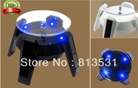 2013 5pcs New Solar Showcase frame jewelry jewelry automatically the rotating gantry UFO Solar Showcase
