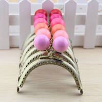 K061 semicircle 8.5cm large candy beads decoration bronze color thickening 18 color purse frame diy material