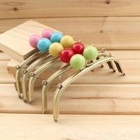 K180 bronze color multicolour large candy beads decoration 16cm  bag accessories purse frame diy material