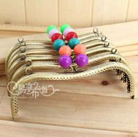K188 multicolour candy beads decoration gold m 20cm bronze color  purse frame diy material