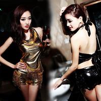 Ds costume female tassel paillette set fashion female singer costumes  Free shipping