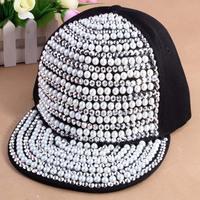 2013 new design Fashion Rivet baseball Caps Snapback Hiphop Caps Spike Studs Rivet Cap Hat Punk style for sale free shipping