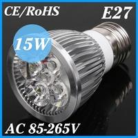 50PCS/LOT Ultra Bright Cree E27 Led 15W Bulb E27 Led Lamp Led Light Led Spot light AC85-265V Warm/Cool White,DHL/EMS Shipping