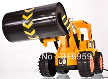 New Wired Control truck Simulation Road Roller 4 wheel Steamroller Truck Engineering Roller truck model electronic
