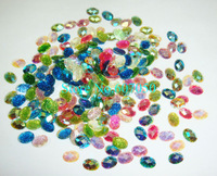 200pcs x 6*8mm Mixed Colors Oval(Ellipse) Super Shine Resin Glitter Gem Stones for Nail Art Decoration