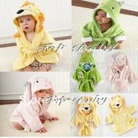 2013 new childred cartoon animal baby hooded bathrobe/bath towel/bath terry.bathing robe for children/kids/infant