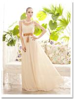 Free shipping 2014 new dress brand design Goddess Womens Hollow Sleeveless Summer Chiffon Maxi Party Cocktail Long Dress 4 color
