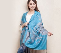 2013 New Fashion style Women's Pashmina Cashmere Shawl Scraf Scarves wrap  Light blue 613154-1
