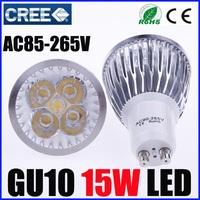 100PCS/LOT Cree GU10 led 15W Bulb GU10 Socket Led Lamp Led Light Led Spotlight 85-265V CE/RoHS Warm/Cool White,DHL/EMS Shipping