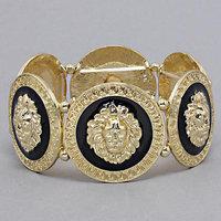 (min mixed order $10) Fashion accessories gold oil lion head bracelet lion head bracelet