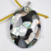 Mixed Colour Shell Bead Pendant Women Jewelry Free shipping S1072