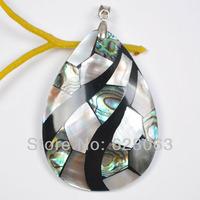 Mixed Colour Shell Bead Pendant Women Jewelry Free shipping S1071