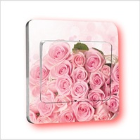 Home romantic rose diy personality switch stickers wall stickers personalized switch