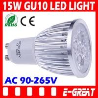50X Cree GU10 led 15W Bulb GU10 Socket Led Lamp Led Light Led Spotlight 85-265V CE/RoHS Warm/Cool White,DHL/EMS Shipping
