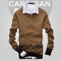 2013 autumn male cardigan sweater male sweater male cardigan trend slim sweater
