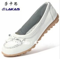 Hot sale!2013 autumn new fashion genuine leather flat casual shoes women's shallow mouth cow muscle shoes outsole