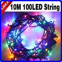 10M 110V/220V 100 Colorful XMAS Garden Fairy String LED New Year Garland Christmas Tree Lights CN C-18