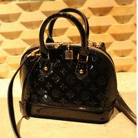 handbag brand 2014 bags shell bag Small mini shell bag japanned leather women's handbag famous brand fashion handbag women bags