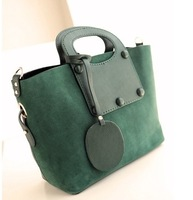 Big bags 2013 female fashion vintage nubuck cowhide patchwork handbag messenger bag